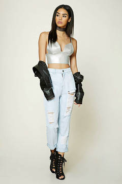 FOREVER 21 Distressed Mom Jeans