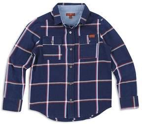 7 For All Mankind Boys' Plaid Denim Shirt - Big Kid