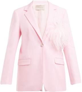 Christopher Kane Feather-embellished wool-crepe blazer