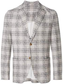 1901 Circolo checked textured blazer