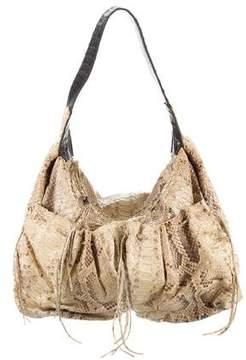 Carlos Falchi Snakeskin Hobo Bag