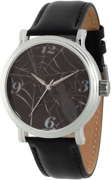 Marvel Spiderman Mens Black Strap Watch-Wma000201