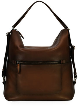 Salvatore Ferragamo Runway 24 Hour Shoulder Bag, Brown