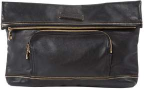 Longchamp Leather clutch bag - BLACK - STYLE