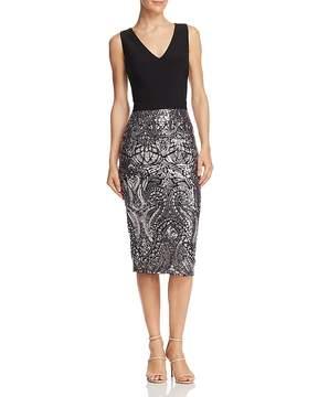 Aqua Sequin-Embellished Sheath Dress - 100% Exclusive