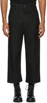 Rick Owens Black New Cropped Dustulator Jeans