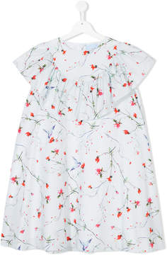 Lanvin Enfant TEEN floral-print ruffled dress