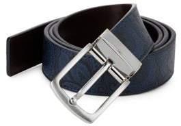 Robert Graham Reversible Vallon Print Leather Belt
