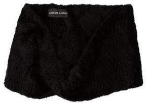 Adrienne Landau Textured Fur Shawl