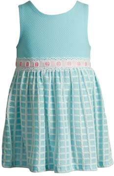 Youngland Baby Girl Textured Grid Dress