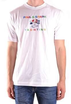 Paul & Shark Men's White Cotton T-shirt.