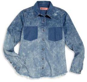 Blank NYC Girl's Faded Denim Shirt