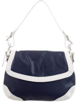 Lauren Ralph Lauren Perforated Leather Shoulder Bag