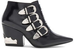 Toga Pulla Buckle Heeled Bootie