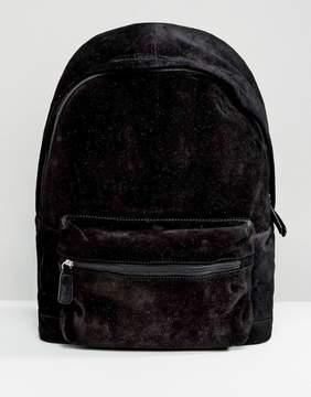 Asos Suede Backpack In Black