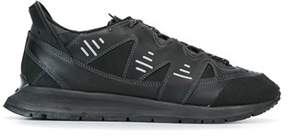 Kenzo Men's Black Leather Sneakers.