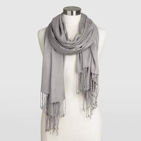 World Market Gray Pashmina Style Shawl