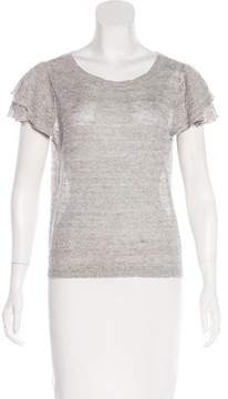 White + Warren Short Sleeve Knit Top