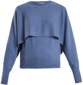 Chloé Layer crew-neck cashmere-knit sweater