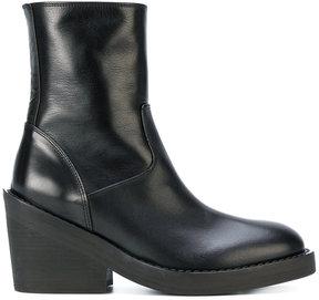 Ann Demeulemeester chunky heel boots
