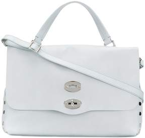 Zanellato flat stud detail handbag