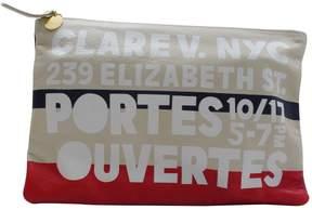 Clare Vivier Multicolour Leather Clutch Bag