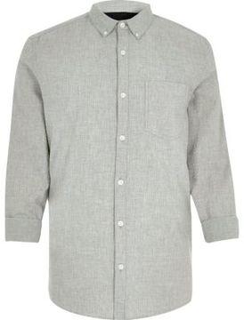 River Island Mens Grey seersucker shirt