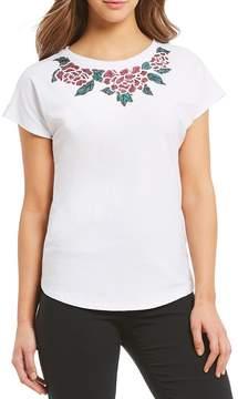 Isaac Mizrahi Imnyc IMNYC Floral Sequin Dolman Tee