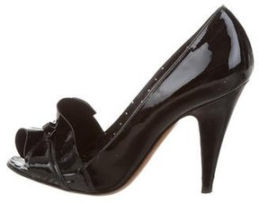 Moschino Cheap & Chic Moschino Cheap and Chic Patent Leather Peep-Toe Pumps
