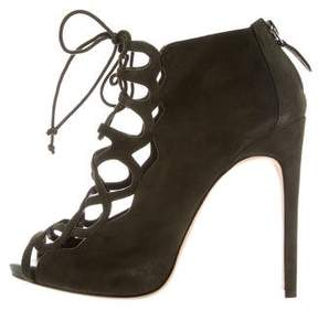 Alexandre Birman Cage Lace-Up Booties