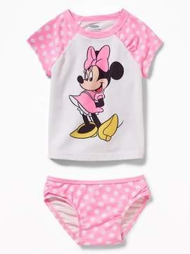 Old Navy Disney© Minnie Mouse Rashguard Swim Set for Toddler Girls