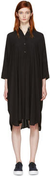 6397 Black Silk Big Square Dress