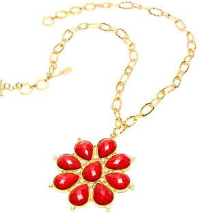 Amrita Singh Ruby & Goldtone Maisie Pendant Necklace
