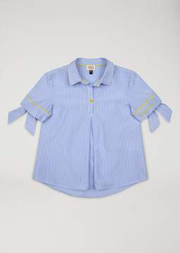 Armani Junior Blouse With Bow Sleeve Details