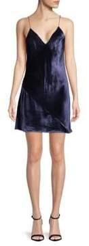 Fleur Du Mal Velvet Mini Slip Dress