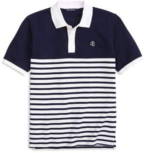 Brooks Brothers Boys' Nautical Stripe Polo - Little Kid, Big Kid