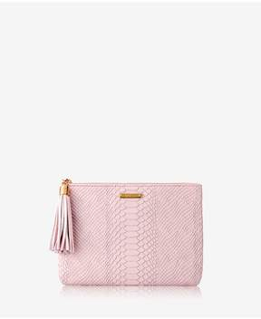 GiGi New York | All In One Bag In Petal Pink Embossed Python | Petal pink embossed python
