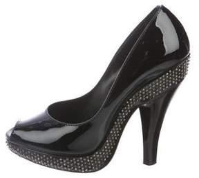 Burberry Patent Leather Studded Pumps