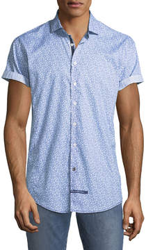 English Laundry Classic-Fit Paisley-Toile Short-Sleeve Sport Shirt
