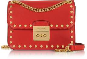 Michael Kors Sloan Editor Medium Bright Red Leather Chain Shoulder Bag - ONE COLOR - STYLE