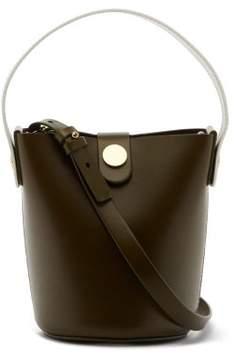 Sophie Hulme Nano Swing Leather Bucket Bag - Womens - Khaki White