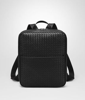 Bottega Veneta Nero Intrecciato Backpack