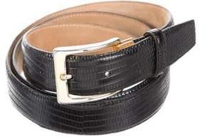 Saks Fifth Avenue Embossed Leather Buckle Belt