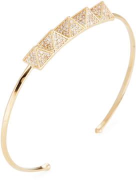 Amrapali Women's Pave Diamond Pyramid Bangle Bracelet