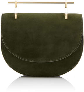 M2Malletier M'o Exclusive Mini Half Moon Suede Shoulder Bag