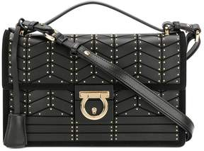 Salvatore Ferragamo studded Gancio lock shoulder bag