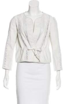 Vanessa Bruno Leather Lace Jacket