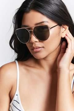 Forever 21 Flat-Top Aviator Sunglasses