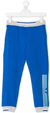 Emporio Armani Kids side striped track trousers