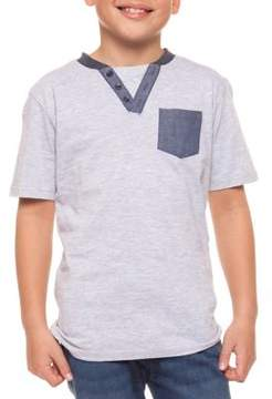 Dex Boy's Short-Sleeve Colorblock Henley